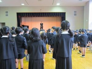 東星学園 大矢正則校長 カトリック ミッション 男女 始業式(1)