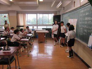 東星学園 校長 大矢正則 清瀬 私立 小学校 授業参観(4)
