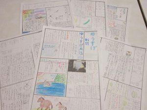 東星学園 大矢正則校長 清瀬 私立 小学校 夏期学校の新聞作り(6)
