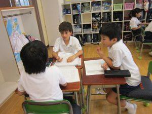 東星学園 校長 大矢正則 清瀬 私立 小学校 夏期学校の新聞作り(2)