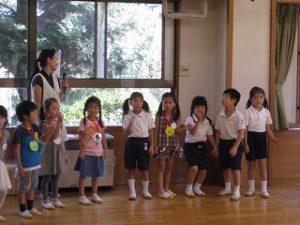 東星学園 校長・大矢正則 清瀬 私立 小学校 1年生…幼稚園との交流会(2)