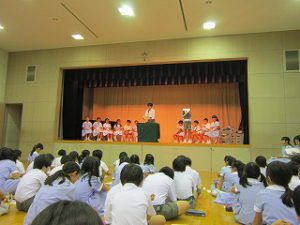 東星学園 校長 大矢正則 カトリック ミッション 男女 後期 児童会役員選挙(1)