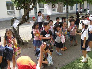 東星学園 大矢正則校長 清瀬 私立 小学校 1年生…幼稚園との交流会(12)
