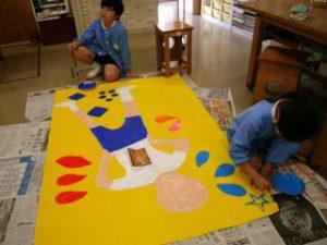 東星学園 校長・大矢正則 清瀬 私立 小学校 図工で準備する体育祭~心合わせて~(8)