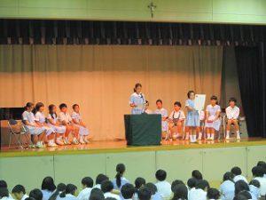 東星学園 校長・大矢正則 清瀬 私立 小学校 後期 児童会役員選挙(2)