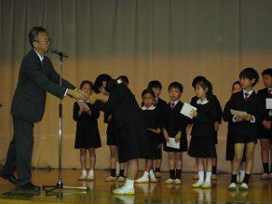 東星学園 校長・大矢正則 カトリック ミッション 男女 後期始業式(5)