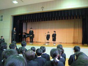 東星学園 大矢正則校長 カトリック ミッション 男女 後期始業式(3)