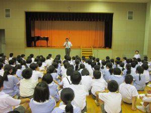東星学園 校長 大矢正則 清瀬 私立 小学校 2017年度・前期終業式(1)
