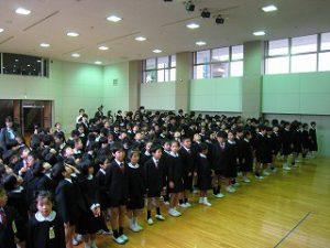 東星学園 校長 大矢正則 カトリック ミッション 男女 後期始業式(1)