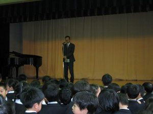 東星学園 校長・大矢正則 清瀬 私立 小学校 後期始業式(2)