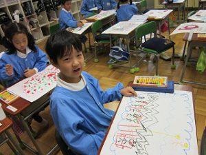 東星学園 校長 大矢正則 清瀬 私立 小学校 展示会に向けて(1)(4)