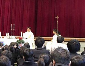 東星学園 校長 大矢正則 カトリック ミッション 男女 クリスマス会~かみさまといつもいっしょ~(1)