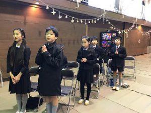 東星学園 校長・大矢正則 清瀬 私立 小学校 クリスマス会~かみさまといつもいっしょ~(2)