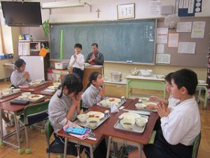 東星学園 大矢正則校長 カトリック ミッション 男女 1月の給食(5)