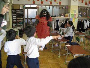 東星学園 大矢正則校長 清瀬 私立 小学校 節分・豆まき(4)