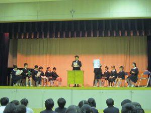 東星学園 大矢正則校長 カトリック ミッション 男女 児童会役員選挙(3)