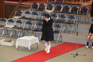 東星学園 大矢正則校長 カトリック ミッション 男女 第82回 卒業式(9)