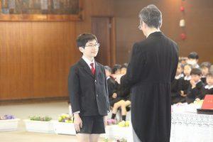 東星学園 校長・大矢正則 カトリック ミッション 男女 第82回 卒業式(5)