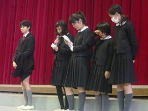 東星学園 校長 大矢正則 清瀬 私立 小学校 「6年生を送る会」(4)