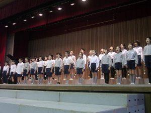 東星学園 校長 大矢正則 カトリック ミッション 男女 「6年生を送る会」(1)