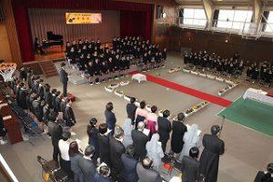東星学園 大矢正則校長 カトリック ミッション 男女 第82回 卒業式(3)