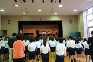 東星学園 校長 大矢正則 カトリック ミッション 男女 学級委員認証式(1)