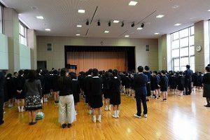 東星学園 校長 大矢正則 カトリック ミッション 男女 始業式(1)