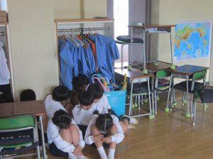 東星学園 校長 大矢正則 カトリック ミッション 男女 全校防犯訓練(1)