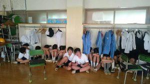 東星学園 校長 大矢正則 清瀬 私立 小学校 全校防犯訓練(4)