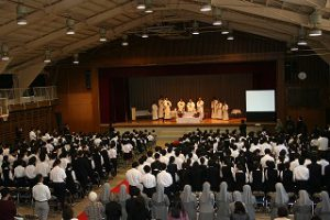 東星学園 校長・大矢正則 カトリック ミッション 男女 ヨゼフ祭 舞台発表(3)