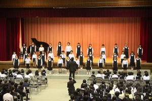 東星学園 校長 大矢正則 清瀬 私立 小学校 ヨゼフ祭 舞台発表(2)