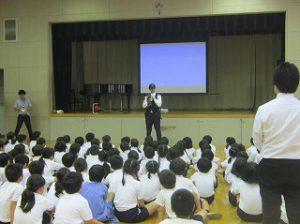 東星学園 校長・大矢正則 カトリック ミッション 男女 全校防犯訓練(5)