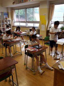 東星学園 校長 大矢正則 清瀬 私立 小学校 3年生 授業の様子(4)