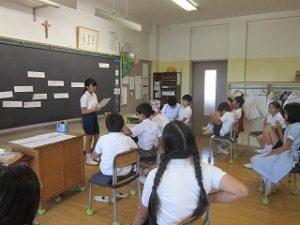 東星学園 校長 大矢正則 清瀬 私立 小学校 5年生 夏休み前の様子(4)