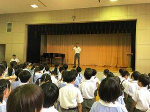 東星学園 校長・大矢正則 清瀬 私立 小学校 終業の集い(2)