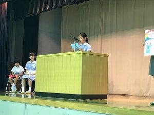 東星学園 校長・大矢正則 清瀬 私立 小学校 2018年度後期 児童会役員選挙(2)