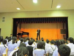 東星学園 大矢正則校長 カトリック ミッション 男女 2018年度 前期終業式(3)