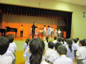 東星学園 校長 大矢正則 カトリック ミッション 男女 2018年度 前期終業式(1)