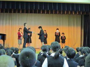 東星学園 校長・大矢正則 清瀬 私立 小学校 2018年度 後期始業式(2)
