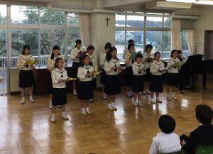 東星学園 校長 大矢正則 カトリック ミッション 男女 合唱団ミニコンサート(1)