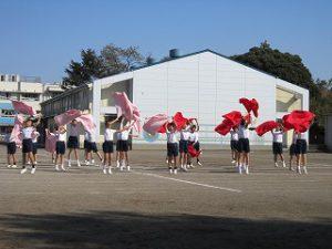 東星学園 校長 大矢正則 清瀬 私立 小学校 体育祭 布体操(2)
