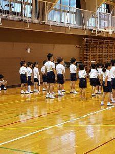 東星学園 校長 大矢正則 カトリック ミッション 男女 体育祭 練習(低学年)(1)