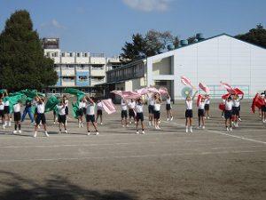 東星学園 校長・大矢正則 カトリック ミッション 男女 体育祭 布体操(3)