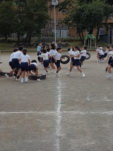 東星学園 校長 大矢正則 清瀬 私立 小学校 体育祭 練習(低学年)(4)