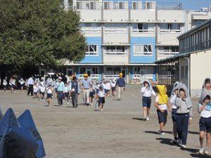 東星学園 校長 大矢正則 カトリック ミッション 男女 全校防災避難訓練(1)