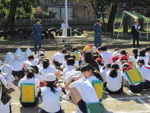 東星学園 大矢正則校長 カトリック ミッション 男女 全校防災避難訓練(3)