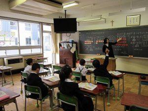 東星学園 校長 大矢正則 清瀬 私立 小学校 授業参観(2)