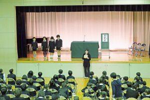 東星学園 校長 大矢正則 カトリック ミッション 男女 低学年朗読大会(1)