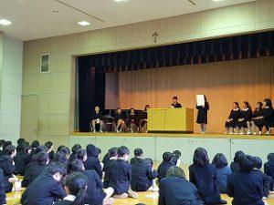 東星学園 校長・大矢正則 カトリック ミッション 男女 児童会役員選挙(5)