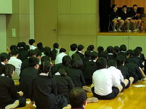 東星学園 校長・大矢正則 清瀬 私立 小学校 児童会役員選挙(2)